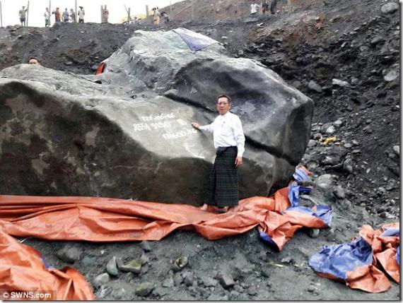 ビルマで超巨大ヒスイが見つかる!!その驚愕の金額は…!? 鉱夫「宝くじが当たった…」