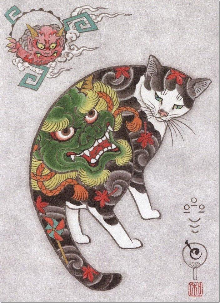 猫タトゥー⑨