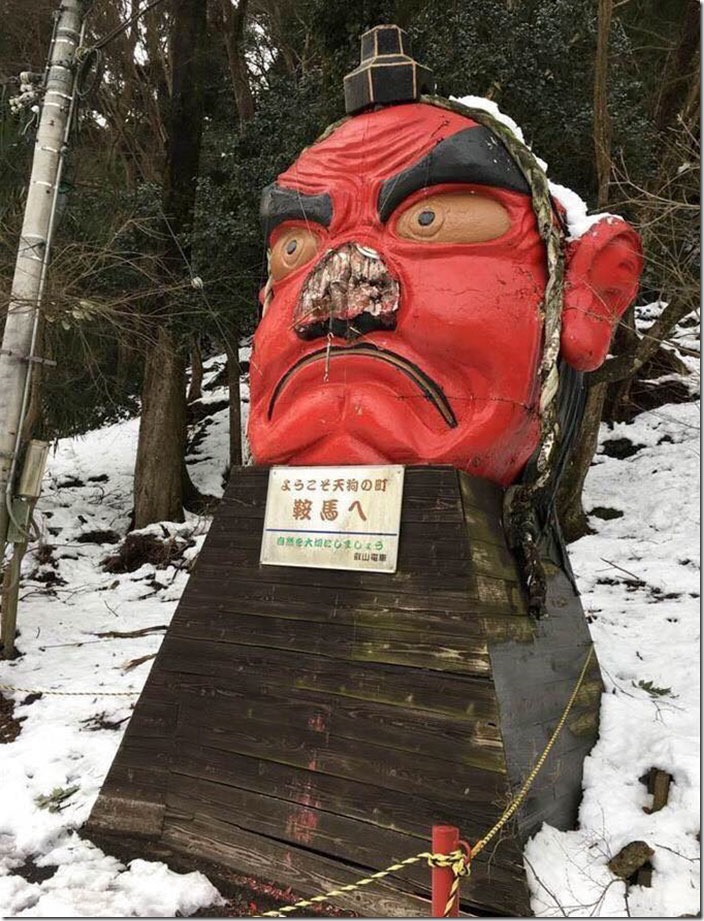 snow-broken-nose-fix-tengu-kyoto-japan-2